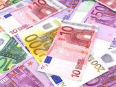 欧元纸币的背景 — 图库照片