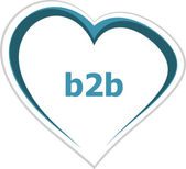 Internet concept, b2b word on love heart — Stock Photo