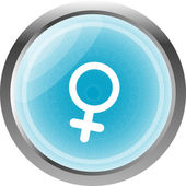 Sex web glossy icon isolated on white — 图库照片