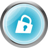 Padlock icon web sign. web app button isolated on white — Stock Photo