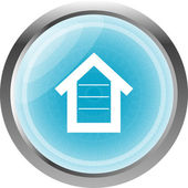 House button, signs, icons isolated on white — Stockfoto