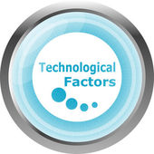 Technological factors web button, icon isolated on white — Fotografia Stock