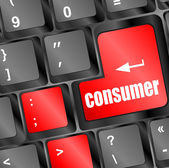 Tüketici mesajı girmek klavye tuşu — Stok fotoğraf