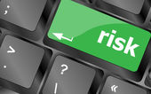 Risk management keyboard key showing business insurance concept — Stock Photo