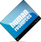 Video player for web with human resources words — Stock Photo