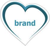 Marketing concept, brand word on love heart — Stock Photo