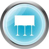 Ikona przycisku z tablicy na białym tle — Zdjęcie stockowe