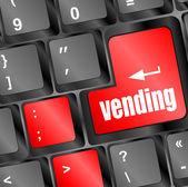 Klawiszy z automatów przycisk, biznes — Zdjęcie stockowe