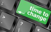 Conceito do tempo: palavra tempo teclado do computador para mudar — Foto Stock