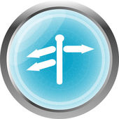 Crossroads sign on web button isolated on white — 图库照片