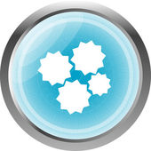 Gears icon (button) isolated on a white background — Stock Photo