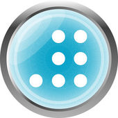 Empty white abstract circles on web button (icon) isolated on white — Stock Photo