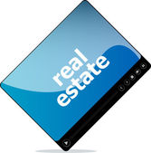 Video movie media player with real estate on it — Stock Photo