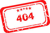 404 error red Rubber Stamp over a white background — Stock Photo
