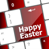 Happy Easter text button on keyboard keys — Stock Photo