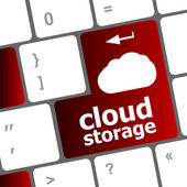 Cloud storage words concept on button of the keyboard — Foto de Stock