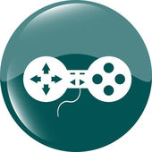 Game controller web icon, button isolated on white — Stock Photo