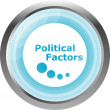 Political factors web button, icon isolated on white — Stock Photo