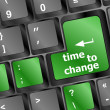 Time concept: computer keyboard word Time to change — Stock Photo