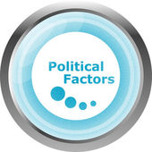 Political factors web button, icon isolated on white — Stock fotografie