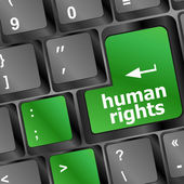 Human rights button on computer keyboard pc key — Stock Photo