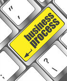 Keyboard key with business process button, business concept — 图库照片