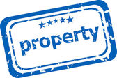 Property on rubber stamp over a white background — Stock Photo
