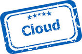 Abstract cloud on stamp signs, web symbols and icons — Stock Photo