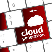 Cloud generation words concept on button of the keyboard — Stock Photo