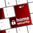 Safety concept: computer keyboard with Home security icon on enter button background — Stock Photo #43709827