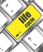 生命周期对笔记本电脑的键盘键 — 图库照片