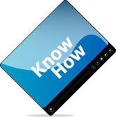 Know how on media player interface — Stock Photo