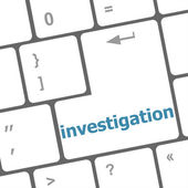 Investigation - business concept. button on modern computer keyboard — Stockfoto