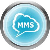 Mms glossy web icon isolated on white background — Photo