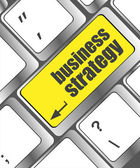 Business strategy - business concepts on computer keyboard, business concept — Stock Photo