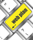 Web plan concept with key on computer keyboard, business concept — Foto Stock