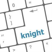 Knight word on computer keyboard keys — Stock Photo