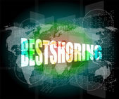 Backgrounds touch screen with bestshoring word — Stock Photo
