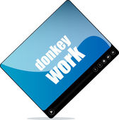 Video player for web with donkey work words — Foto de Stock