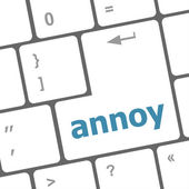 Annoy button on the computer keyboard key — Stock Photo