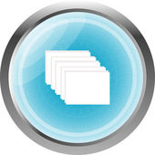 Layers web glossy icon isolated on white — Stock Photo