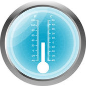 Thermometer icon button isolated on white — Stock Photo