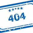 404 error Rubber Stamp over a white background — Stock Photo
