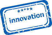 Innovation on rubber stamp over a white background — Stock Photo