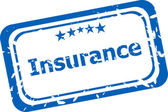 Insurance grunge stamp isolated on white background — Stock Photo