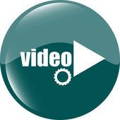 Video Play-Taste (Symbol) auf weißem Hintergrund — Stockfoto