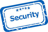Security on rubber stamp over a white background — Stock Photo