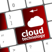 Computer keyboard for cloud technology — Stock Photo