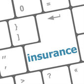 Close up view on conceptual keyboard - insurance — Photo