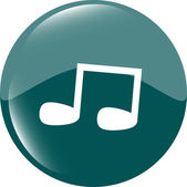 Note full, music web icon (button) — Stock fotografie